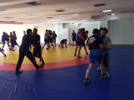 Подготовка спортсменов к чемпионату РФ по греко-римской борьбьбе